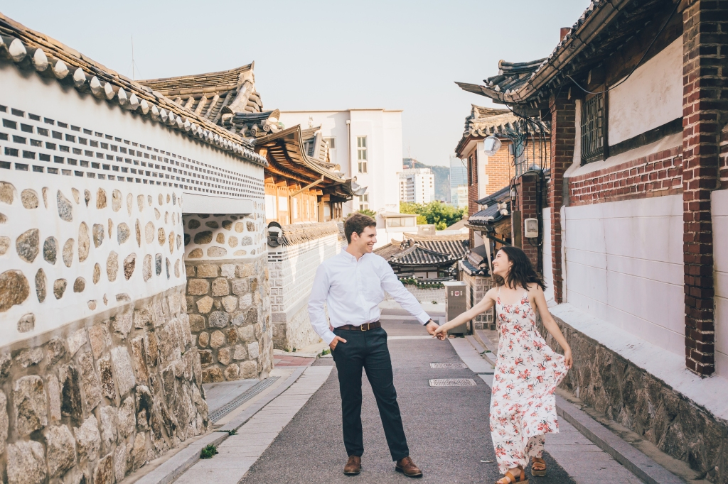 Engagement photo in Seoul, South Korea.
